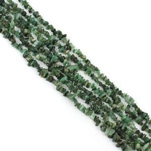 Morning Show Special! 3x 160cts Emerald Bead Nugget Approx 3x1.50 to 9x4mm, 120cm Strand