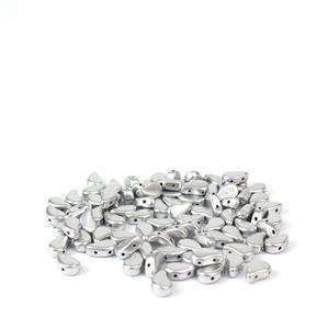 Paisley Duo Bronze Aluminium Beads 8x5mm (22GM/TB)