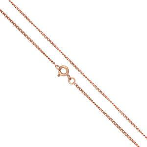 Rose Gold Plated Base Metal Finished Fine Curb Chain, 18
