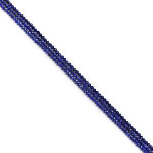 Triple Trouble! Natural Lapis Lazuli Faceted Rounds Approx 2mm 38cm strand