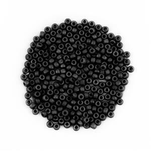 Miyuki Opaque Black Seed Beads 6/0 (20GM/TB)