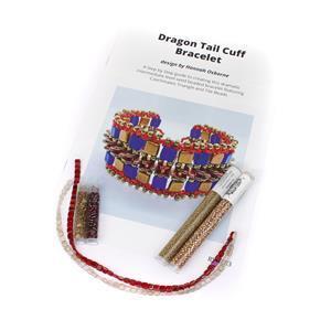 Dragon Tail Red;  Czechmates Tile Beads x2, Triangle Beads x2, Miyuki 11/0 & 8/0