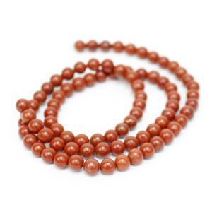 45cts Red Jasper Plain Rounds Approx 4mm, 38cm Strand