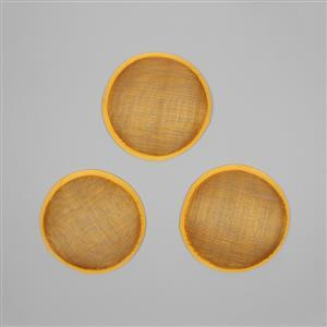 Cambric Fascinator Bases Gold Round - 13.5cm (3pcs/pk)