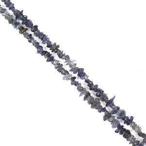 180cts Iolite Small Chips Approx 3x1 - 6x4mm, 60