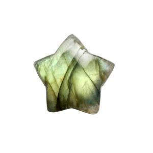 9cts Labradorite Top Side Drill Plain Star Approx 15mm.