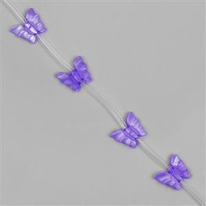 Purple Shell Carved Butterflies Approx 12x10mm(15pcs)