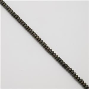 310cts Pyrite Plain Rondelles Approx 8x5mm, Approx 38cm strand