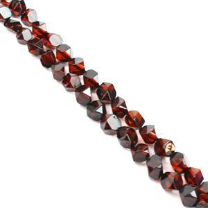 Baltic Cherry Amber Faceted Beads Approx. 8-10mm, 38cm Strand