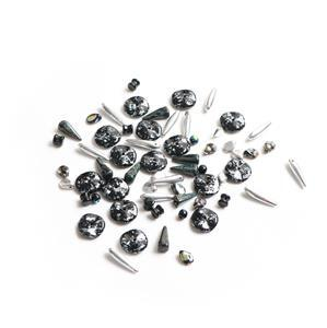 Preciosa Ornela Trade Mark Bead Mix - Metallic Black (20g)