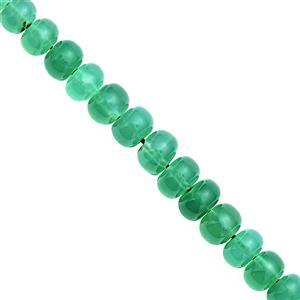 68cts Green Onyx Graduated Smooth Roundelles Approx 5x3.5mm to 8.5x5mm, 18cm Strand