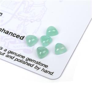 1.9cts Aquaprase 5x5mm Triangle Pack of 5 (N)