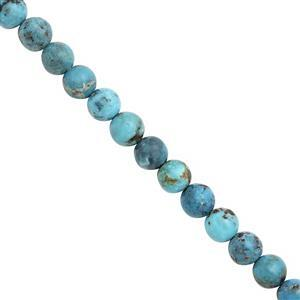 35cts Turquoise Smooth Round Approx 6mm, 15cm Strand