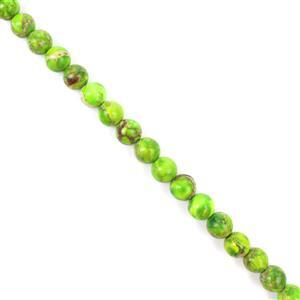 70cts Peridot Green Variscite Plain Rounds Approx 6mm 38cm