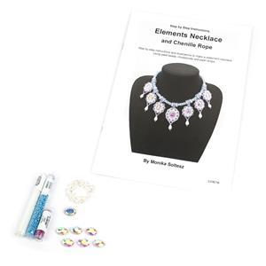 Air Kit; Seedbeads, Oval Rhinestones and Shell Pearl Drops with Booklet by Monika Soltesz