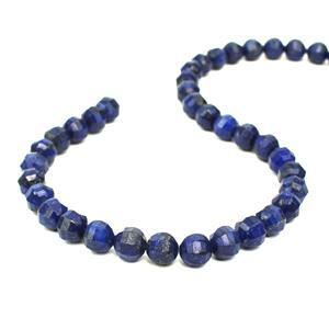 260cts Lapis Lazuli Faceted Lantern Beads Approx 9mm, 38cm Strand