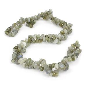 300cts Labradorite Small Nuggets Approx 4x5-7x11mm, 84cm Strand