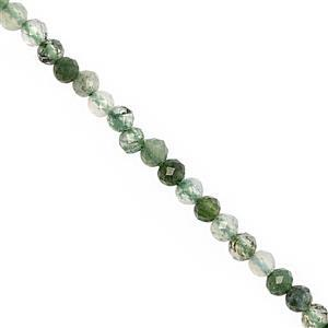 6cts Rutile Quartz Faceted Round Approx 2mm, 31cm Strand