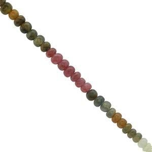 40cts Multi Colour Sapphire Plain Rondelle Approx 3x1.5 to 5x3.5mm, 20cm Strand
