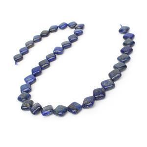 190cts Dyed Lapis Lazuli Puffy Diamonds Approx 12mm, 38cm Strand