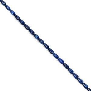 90cts Neon Blue Apatite Fancy Drop Approx 6x10mm, 38cm