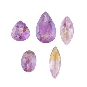 115cts Ametrine Faceted Multi Shape Assortment.