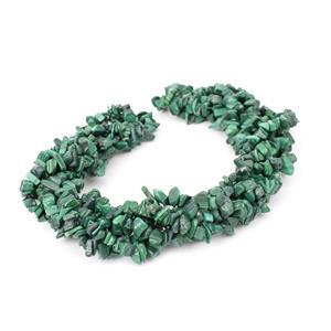 1130cts Malachite Chips Approx 4x7 to 5x8mm, 100