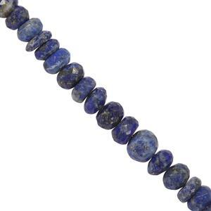 80cts Sar-i-Sang Lapis Lazuli Graduated Faceted Rondelles Approx 2x4 to 4x7mm, 20cm Strand