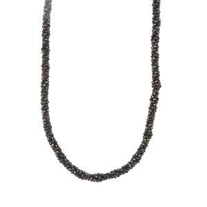 76.33ct Black Spinel Sterling Silver Bead Necklace