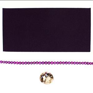 Plum Pudding; Swarovski Nautilus Fancy Stone, Violine Ultrasuede, Cerise Cultured Pearls