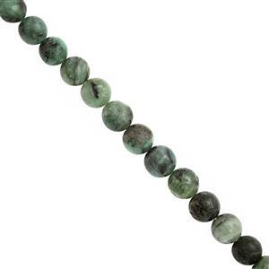 110cts Emerald Graduated Plain Round Approx 5 to 7mm, 39cm Strand