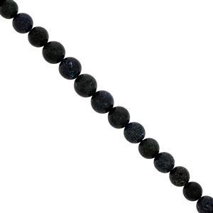 32cts Black Matrix Opal Graduated Smooth Round Approx 4 to 7mm, 15cm Strand