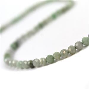 40cts Jadeite Faceted Rounds Approx 4mm, 38cm
