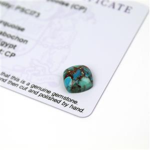 2.5cts Egyptian Turquoise 10x10mm Cushion  (CP)