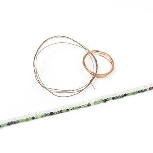 Boho goddess Inc: 25cts Zoisite Faceted Round Approx 3mm, 38cm Strand