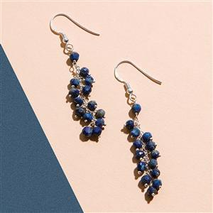 925 Sterling Silver Waterfall Earrings Kit With Lapis Lazuli Rondelles (1pair)