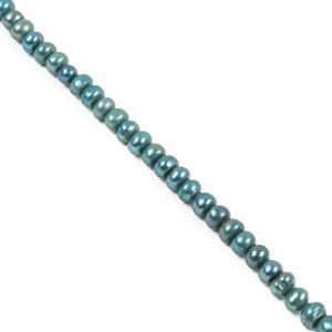 Peacock Freshwater Cultured Pearls Approx 5x3mm 38cm