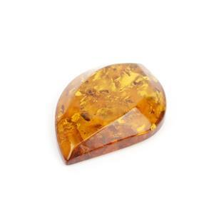 Baltic Cognac Amber Curved Drop Shaped Bead approx 37x25mm