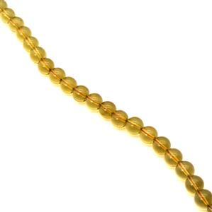 Caribbean Green Amber Round Beads Approx 8mm, 20cm Strand
