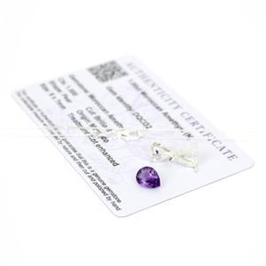 1cts Moroccan Amethyst 9x7mm Pear Pendant, Inc; Chain & Mount.