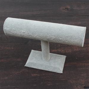 Grey Velvet Flannette T-Bar Bracelet Stand Approx 16x22cm
