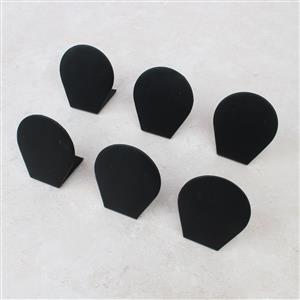 Double Trouble! Inc, Black Leatherette Small Earring Display (6pk)