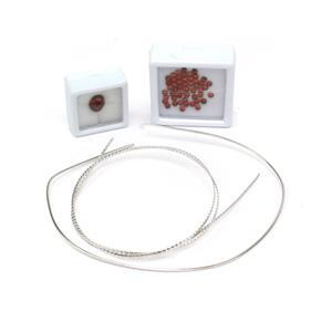 Sterling Silver & Garnet Filigree Wire Kit