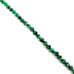 110cts Dyed Green Tiger Eye Star Cut Rounds Approx 8mm, 38cm Strand