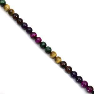 275cts Multi Colour Tiger's Eye Plain Rounds Approx 10mm, 38cm Strand
