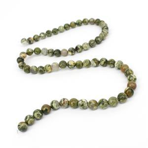 90cts Rhyolite Plain Round Loose Beads Strand Approx 6mm 38cm