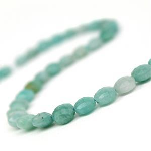 100cts Amazonite Faceted Puffy Coins Approx 8mm, 38cm Strand