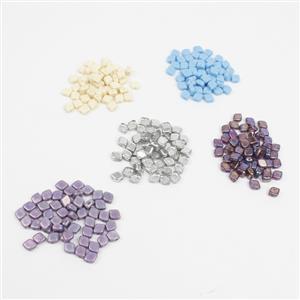 Czech Rhombus Beads Bundle! Variety of Colours 8x10mm (50pcs)