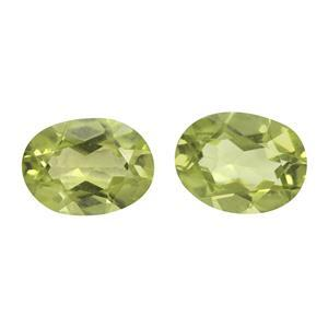 2cts Red Dragon Peridot Oval Brilliant 8x6mm (N)(Pack of 2)