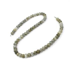 140cts Labradorite Faceted Rondelles Approx 7.5x5mm, 38cm Strand